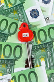 Many euro banknotes in the vault — Stock fotografie