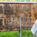staré dřevěné billboard — Stock fotografie #63194533
