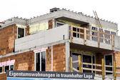 Baustellenschild, condominiums — Stock Photo