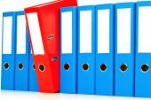 File folders with documents and documents — Stock Photo