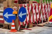 Construction site on a road — Stock Photo