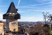 Austria, styria, graz, clock tower — Stock Photo
