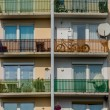 Balconies in a residential building — Stock Photo #66012517