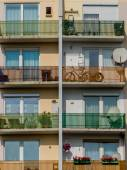 Balconies in a residential building — ストック写真