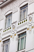 Beautifully renovated art nouveau building — Stock Photo