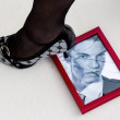 Picture frames and high heels — Stock Photo #67137387