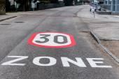 30 kph zone in the city — ストック写真