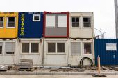 Container on construction site — Stock Photo