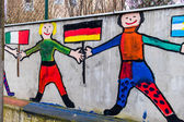 Paintings on a school — Stock Photo