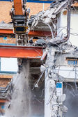 Demolition of an office building — Stock Photo
