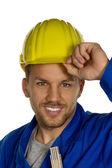 Handyman with tool — Stock Photo