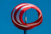 Windsock against a blue sky — Stock Photo