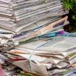Stack of waste paper. old newspapers — Zdjęcie stockowe #68819125