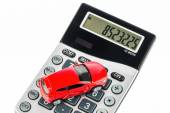 Car and calculator — Stock Photo