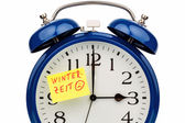 Time switch to winter time — Stock Photo