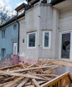 Terraced houses to be renovated — Stock Photo