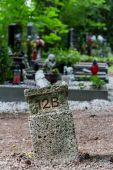 Numbered grave site — Stock Photo