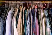 Bedroom box with mens shirts — Stock Photo