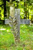 Grave sites on cemetery — Stock Photo