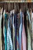 Shirts on hangers — Stock Photo