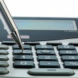 Red pen and calculator — Stock Photo #70113155