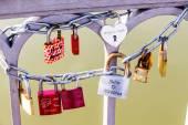 Padlocks as a symbol for love — Stock Photo