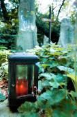 Grave stones in the cemetery — Stock Photo
