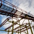 Abandoned rollercoaster and sky — Stock Photo #71331711