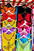 Colorful summer dresses range — Stock Photo