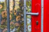 Doorknob, lattice, floral pattern — Stock Photo