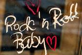 Font rockn roll baby — Foto Stock
