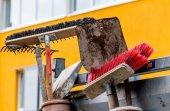 Broom and shovel — Stock Photo