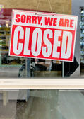 Sign sorry we are closed — Stock Photo