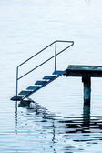 Jetty with stairs — Stock Photo