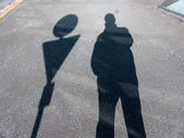 Shadow of a man — Stock Photo