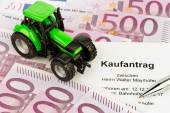 Purchase contract for the new tractor — Stock Photo