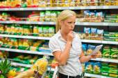 Choice in a supermarket — Stock Photo