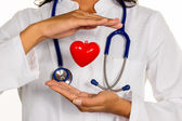 Internist with heart — Stock Photo