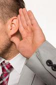 Man listening to — Stock Photo
