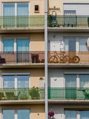 Balconies in a residential building — Fotografia Stock