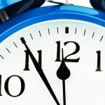 Alarm clock on a white background — Stock Photo #73760235
