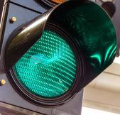 Green light at a traffic light — Stock Photo