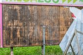 Old billboard wooden — Stock Photo