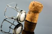 Champagne corks and agraffe — Stock Photo