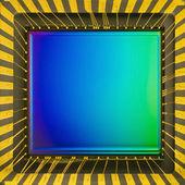 Sensor CCD em um cartão — Fotografia Stock