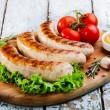 Grilled chicken sausages — Stock Photo #56836267