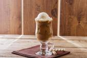Iced coffee with milk and ice cream — Stock Photo