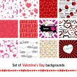 Seamless valentine pattern — Stock Vector #67576549