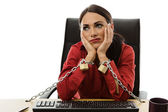 Chained to work — Stock Photo