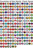 Vlajka světové hodiny — Stock fotografie